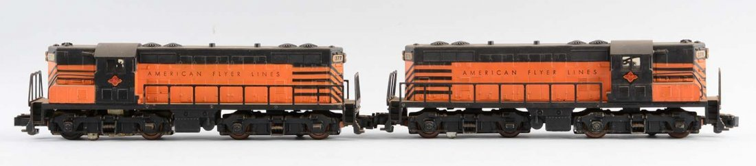 Lot Of 2: American Flyer S Gauge No. 377 T & P GP7 Set.