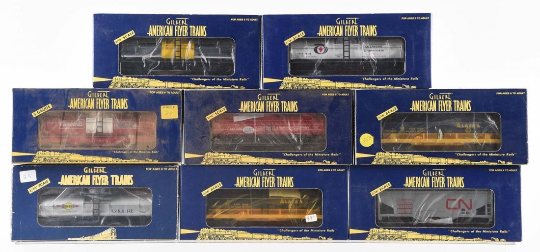 Lot of 8: American Flyer Freight Cars.