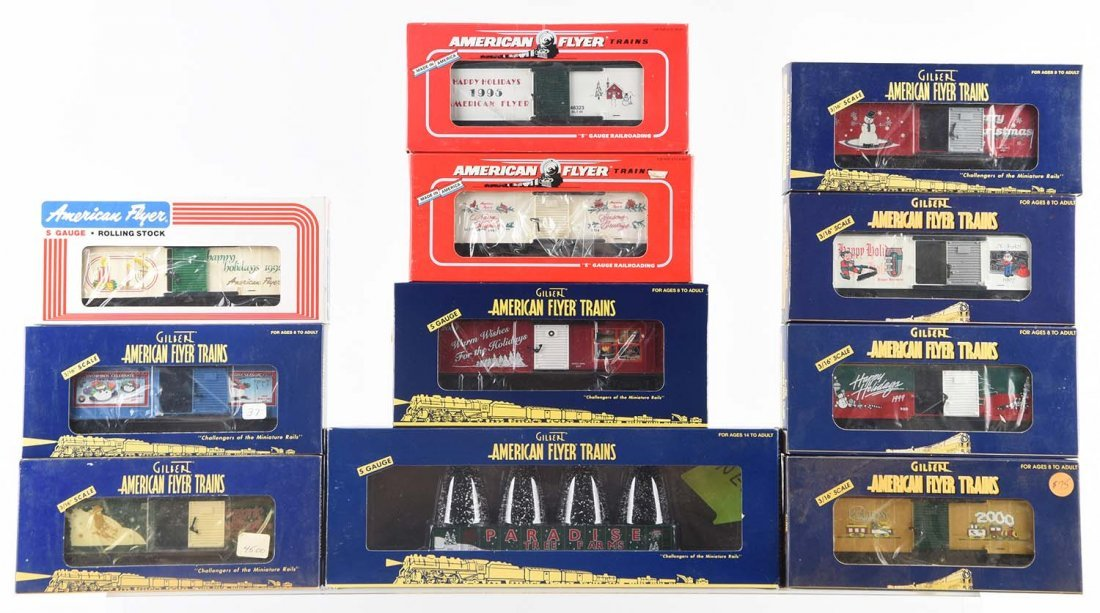 Lot of 11: American Flyer Holiday Cars.