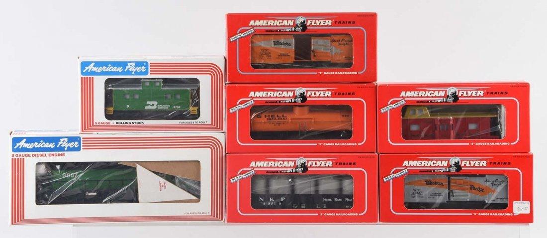 Lot of   Burlington Northern Locomotive & Freight Cars.