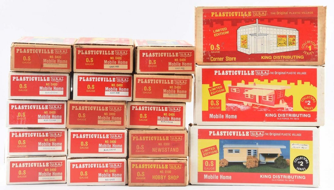 Lagre Lot Plasticville Items In Boxes.