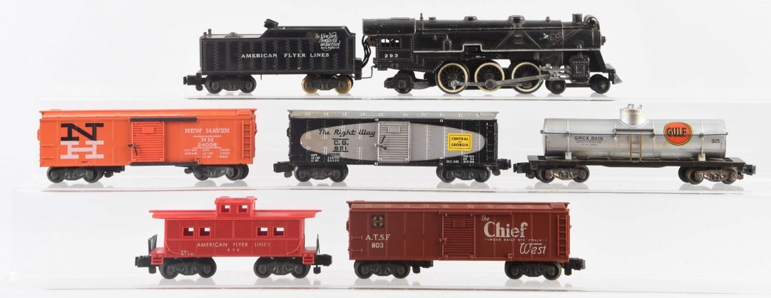 Lot of 7: American Flyer No. 293 Freight Set.