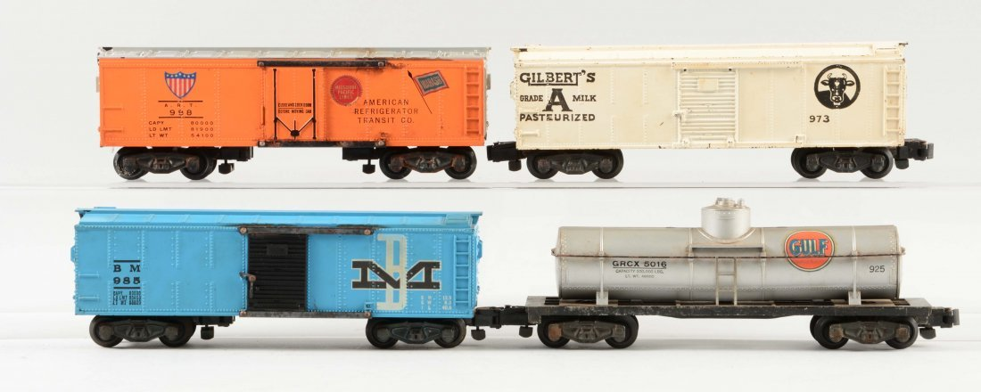 Lot of 4: American Flyer Freight Cars.