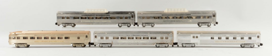 Lot of 5: American Flyer Passenger Cars.