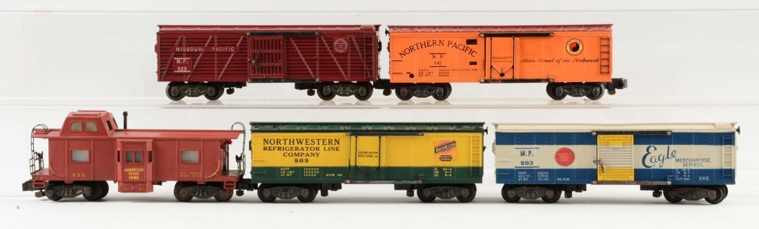 Lot of 5: American Flyer Freight Cars.