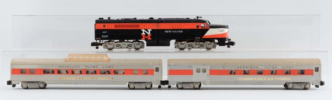 American Flyer 497 Alco New Haven & Passenger Cars.