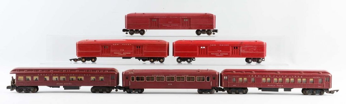 Lot of 6: American Flyer Passenger Cars.