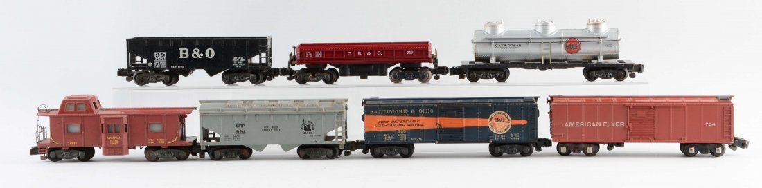 Lot of 7: American Flyer Freight Cars.