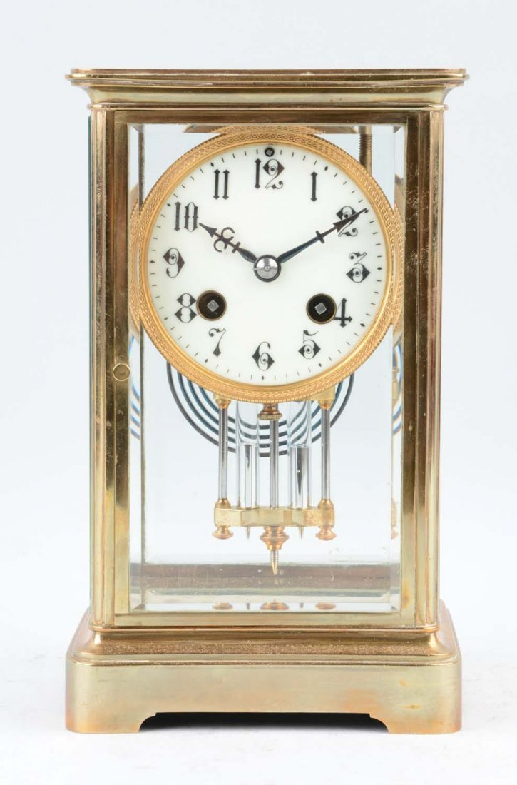 Crystal Regulator French Clock