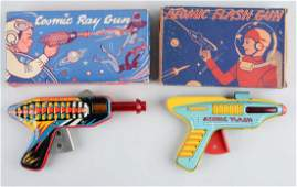 Lot of 2: American Made Tin Litho Vintage Space Guns.