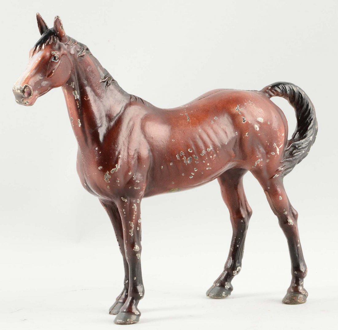 Cast Iron Horse Doorstop.
