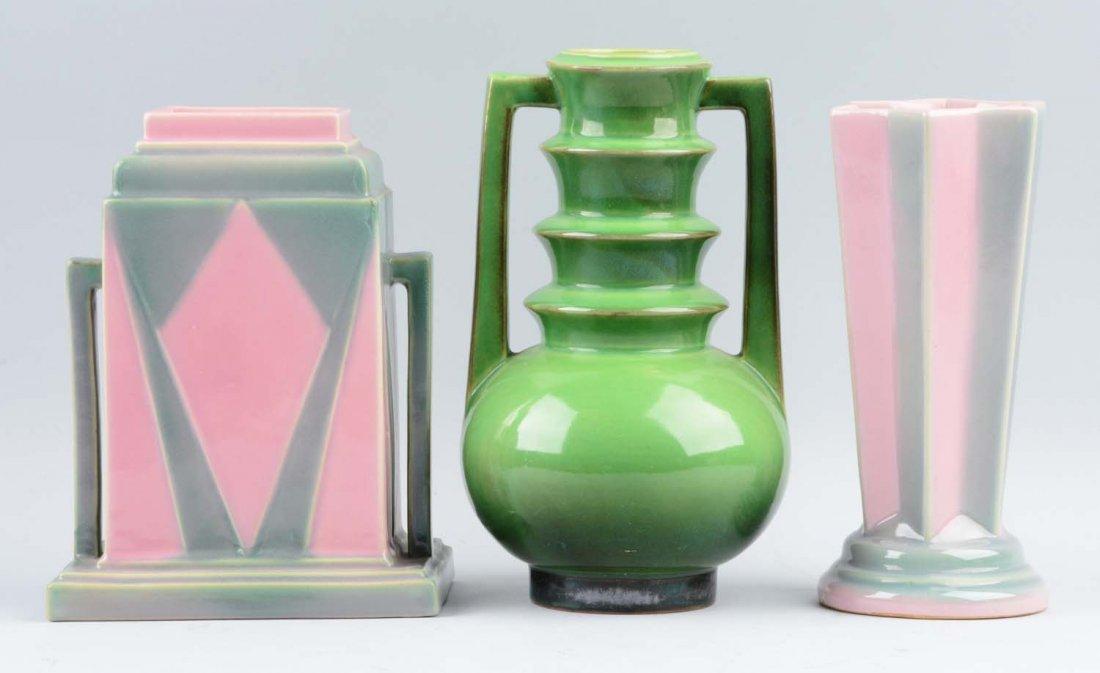 Lot Of 3: Roseville Futura Vases