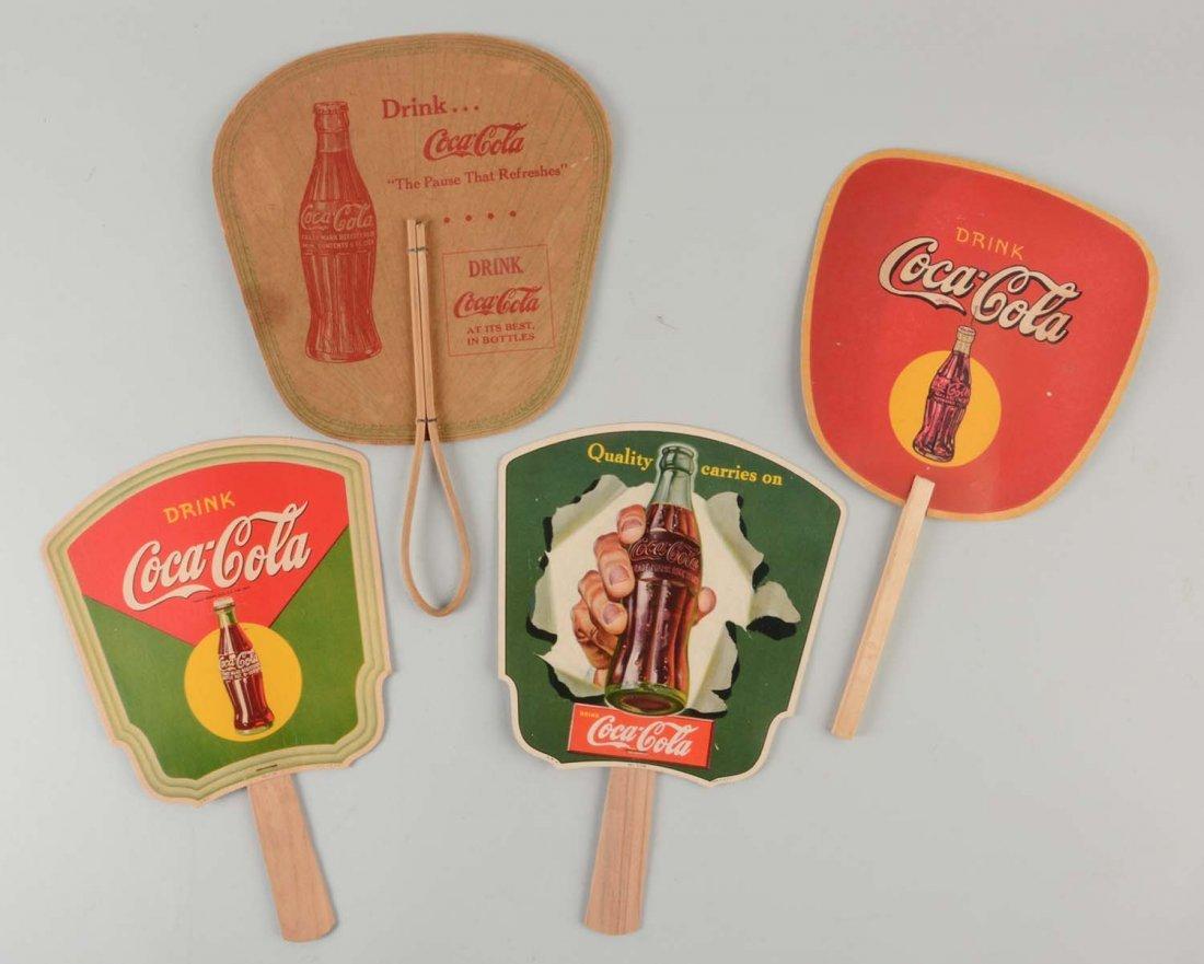 Lot of 4: Coca-Cola Fans