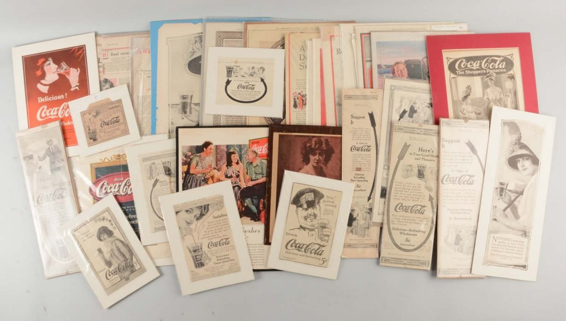 Large Lot Of Assorted Magazine Ad's