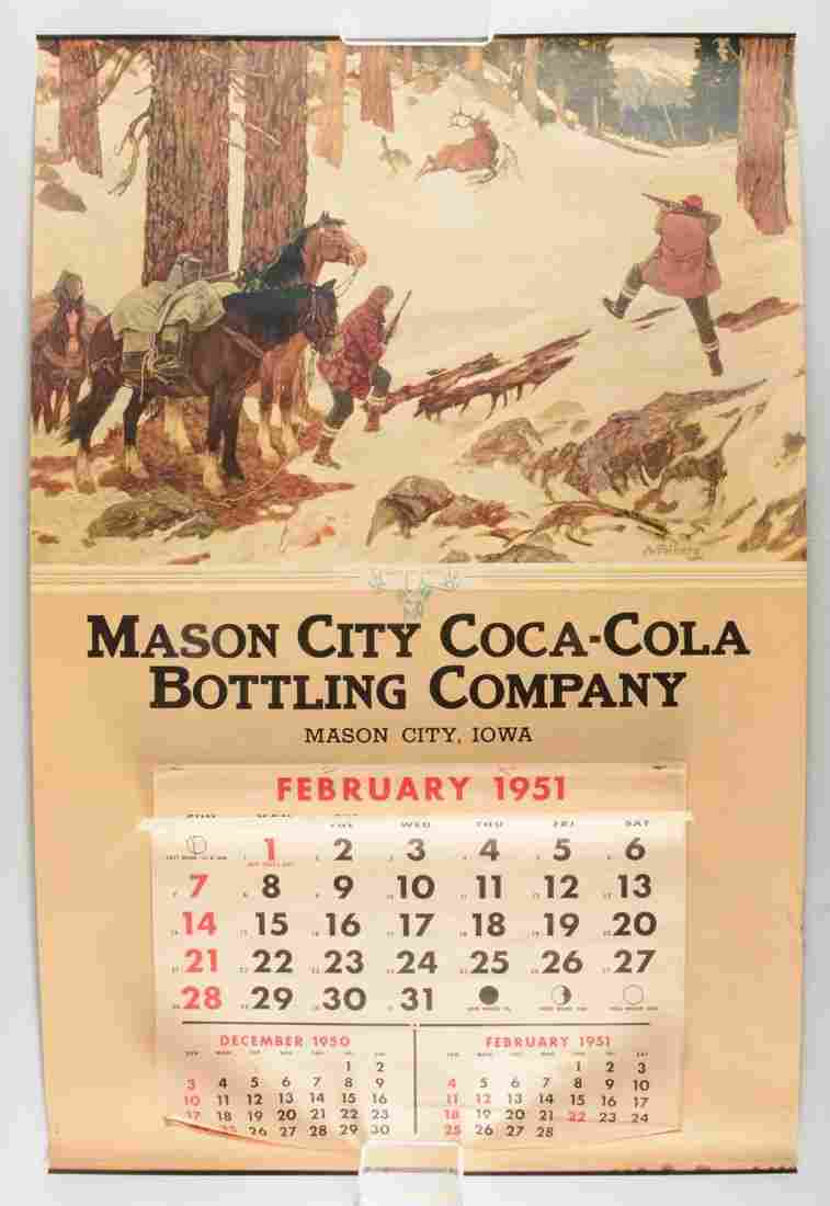 1951 Large Coca-Cola Calendar