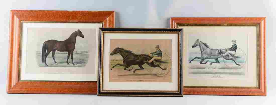 Lot Of 3: Currier & Ives Horse Prints
