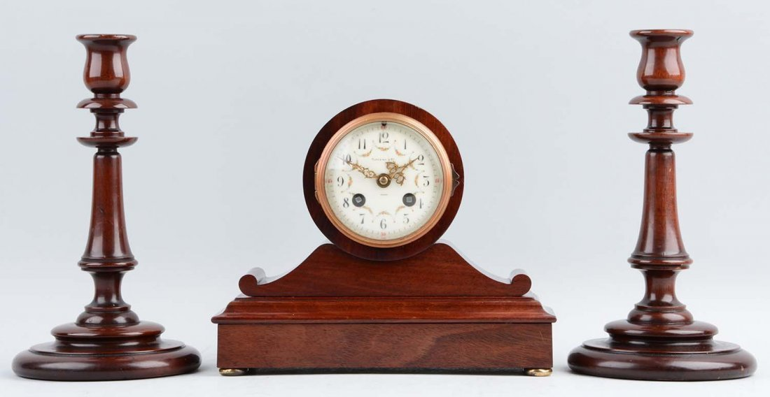 Tiffany & Co Clock With Candlesticks