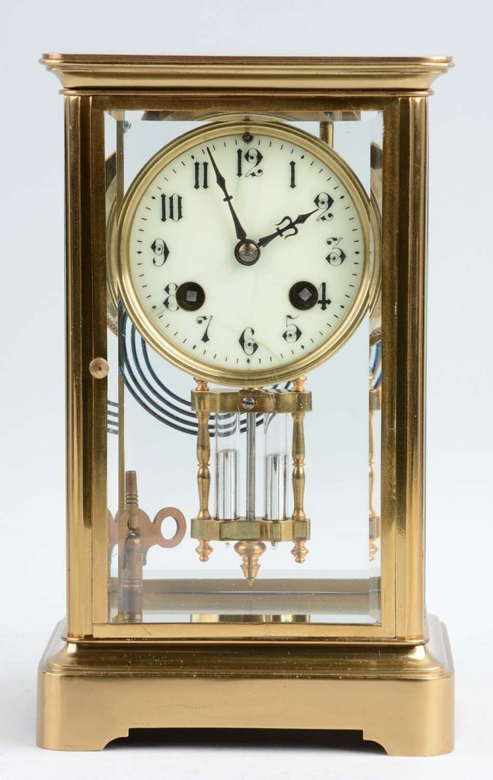 Japy Freres French Crystal Regulator Clock