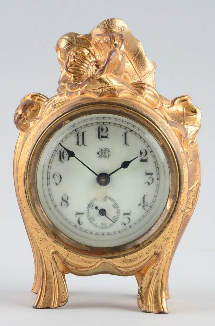 Jennings Brothers Gilt Dresser Clock.