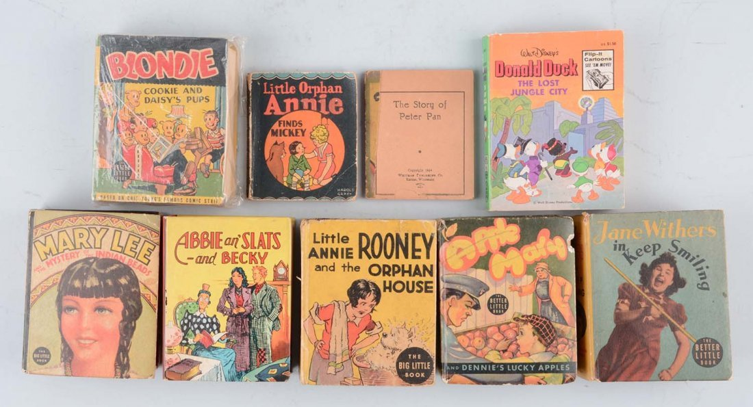 Lot of 9: Assorted Big Little Books & Others.