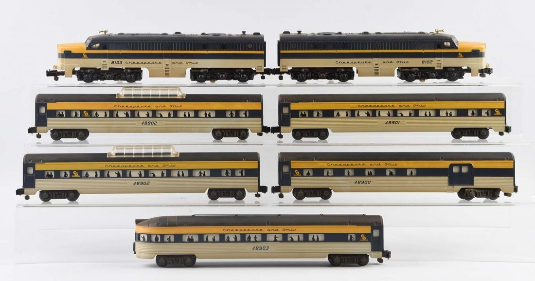 Lot Of 7: Lionel Chesapeake & Ohio Passenger Set.