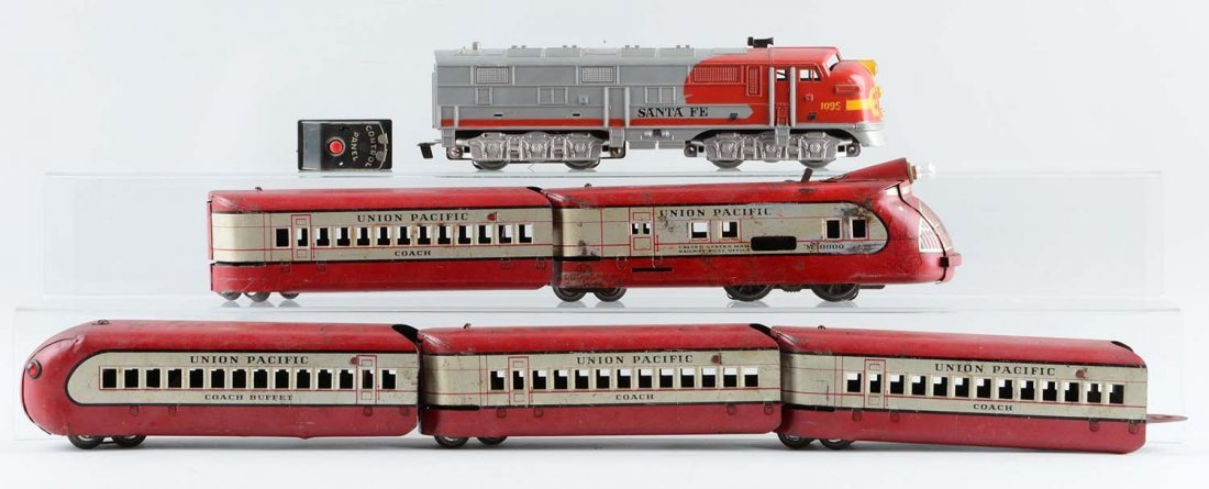 Lot Of 6: Marx M10000 Union Pacific Set & Santa Fe