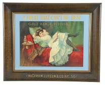 Gilt Edge Whiskey Paper Advertising Sign