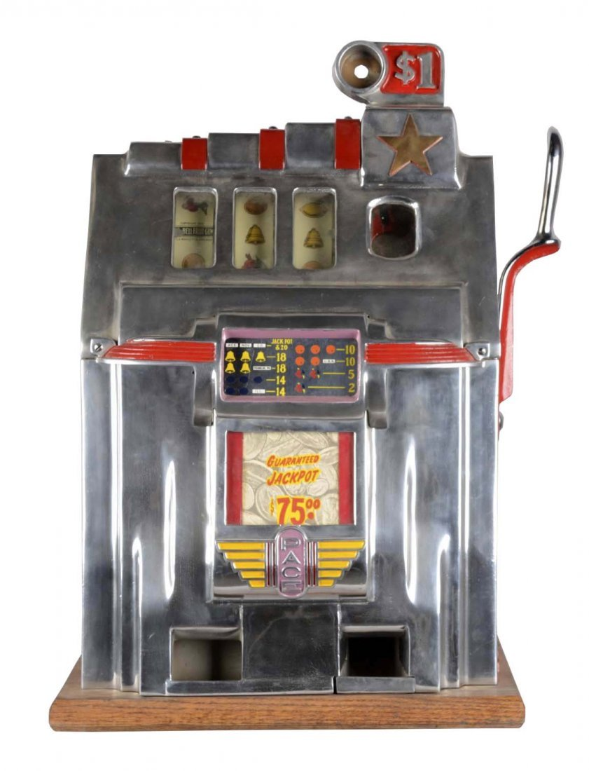 **$1 Pace Deluxe Cherry Bell Gold Star Slot Machine
