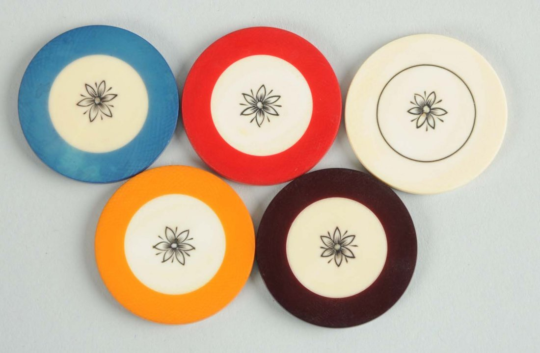Early Set Of Ivory Poker Chips - 3