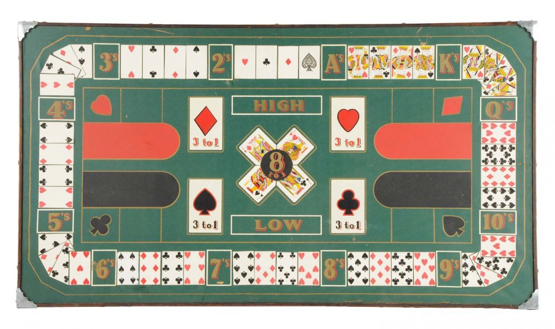 """Antique """"Diana"""" Card Game Layout Board"""