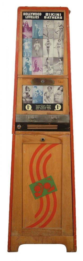 1¢ Exhibit Novelty Card Vending Machine