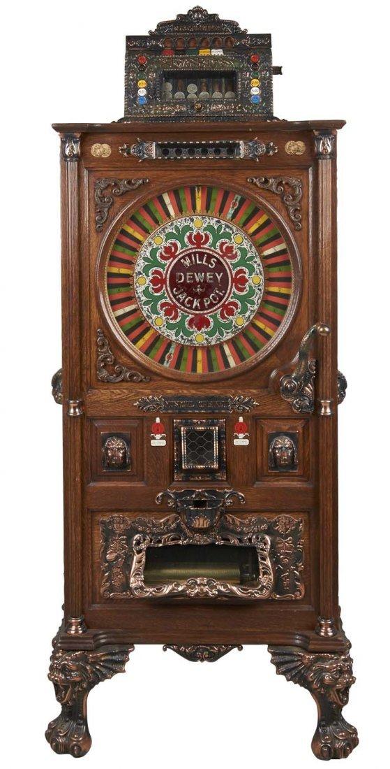 **25¢ Mills Dewey Jackpot Musical Slot Machine