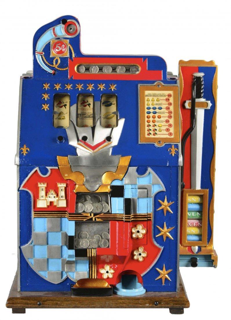 **5¢ Mills Blue Front Gold Award Slot Machine