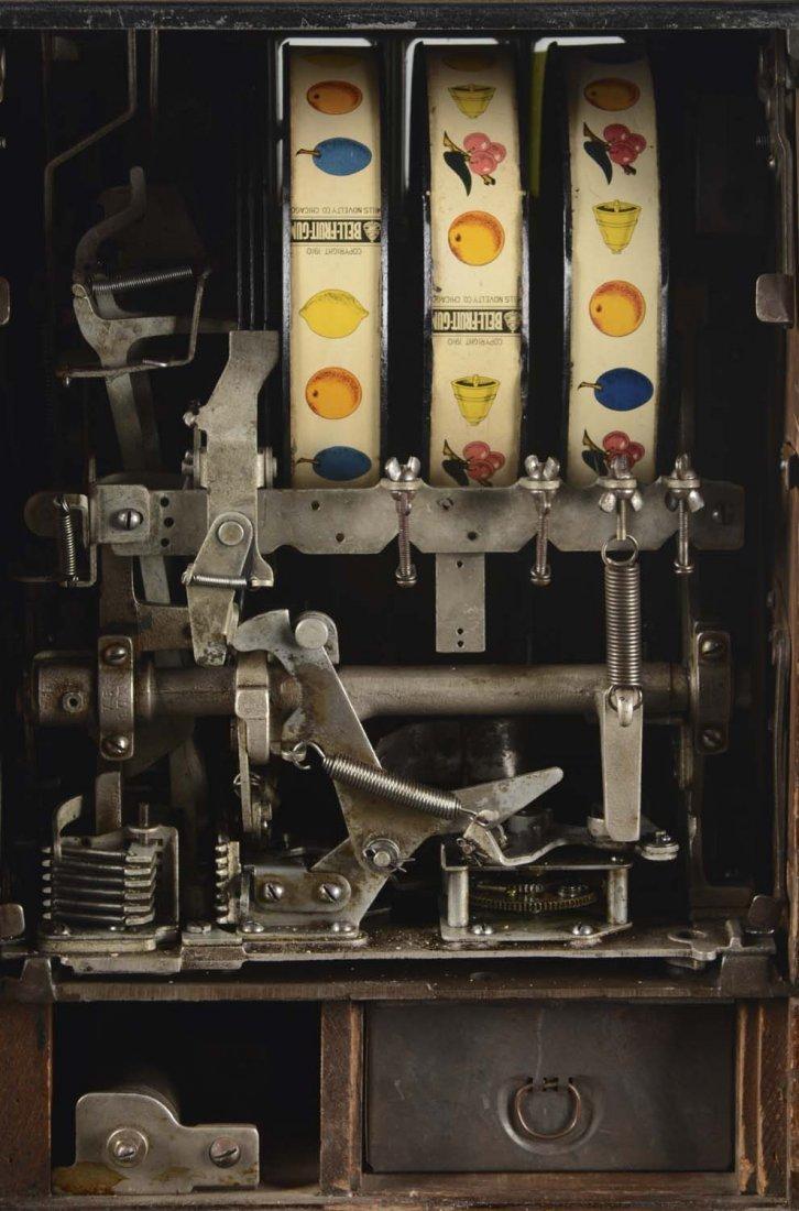 **5¢ Mills Yellow War Eagle Slot Machine - 6