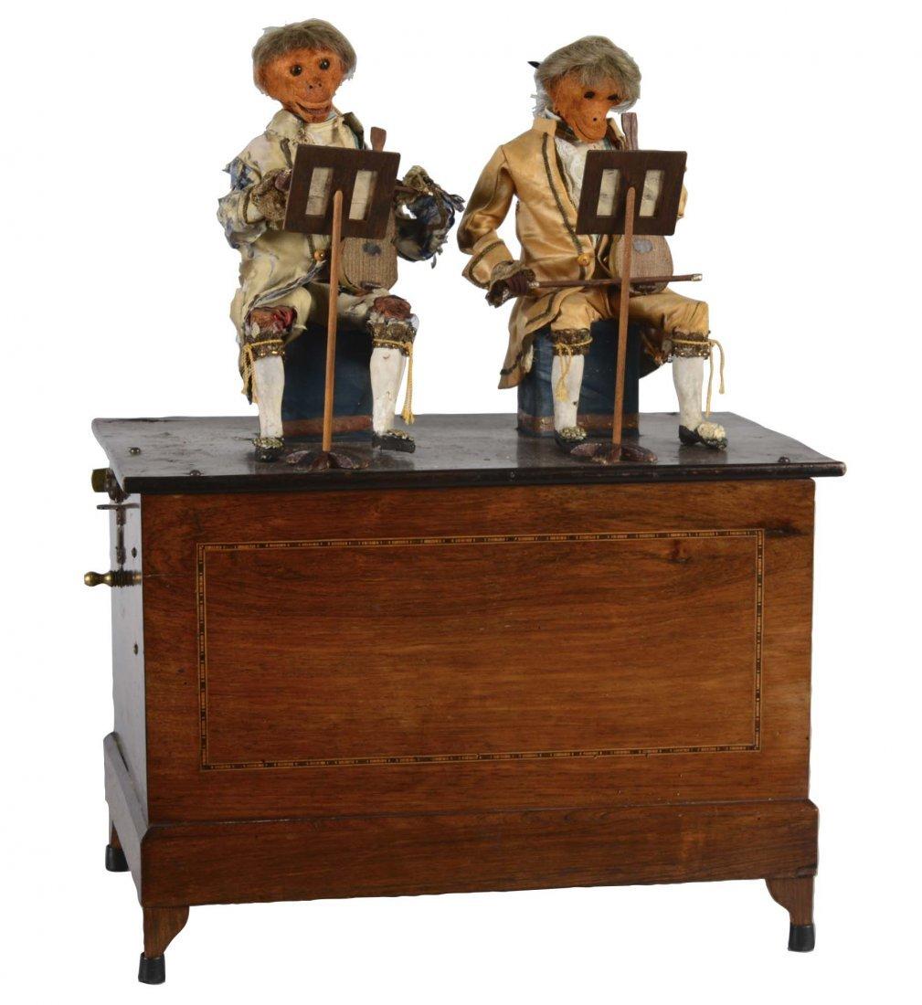 French Barrel Organ With Monkey Automaton
