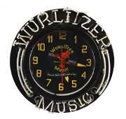 Wurlitzer Phonograph Music Neon Sign Clock