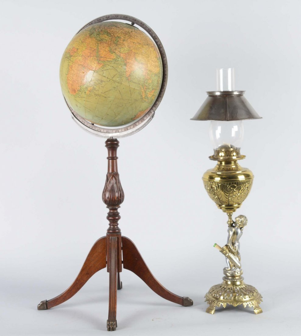 Lot Of 2: Globe and Gas Lamp - 6