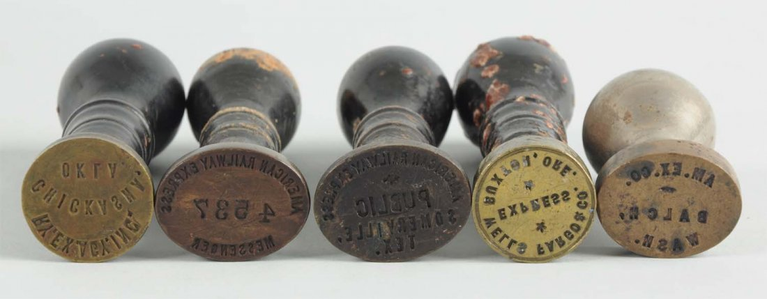 Achille Stamp Holder With Early Stamps - 2