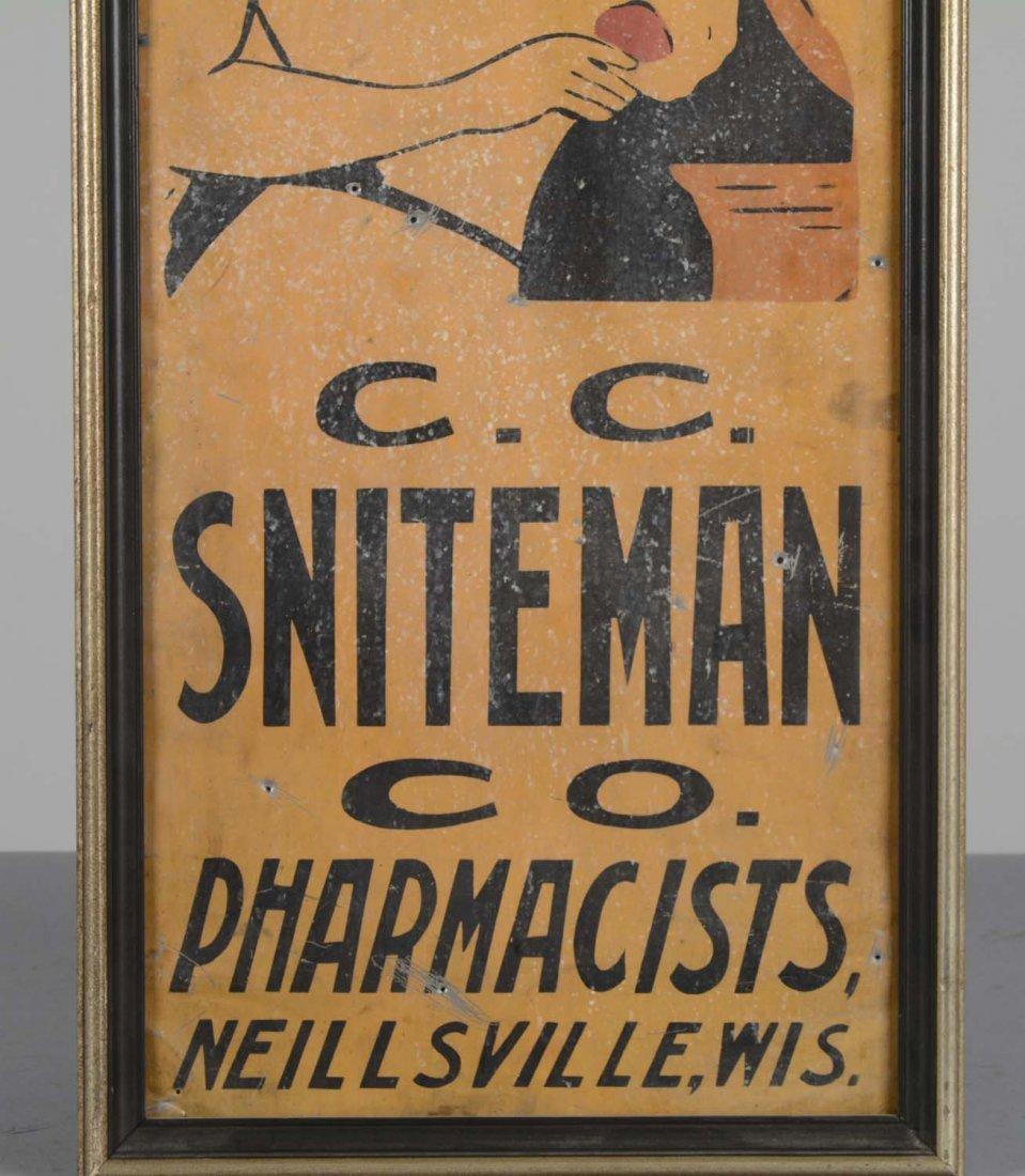 Framed Vintage Pharmacy Advertisement - 4