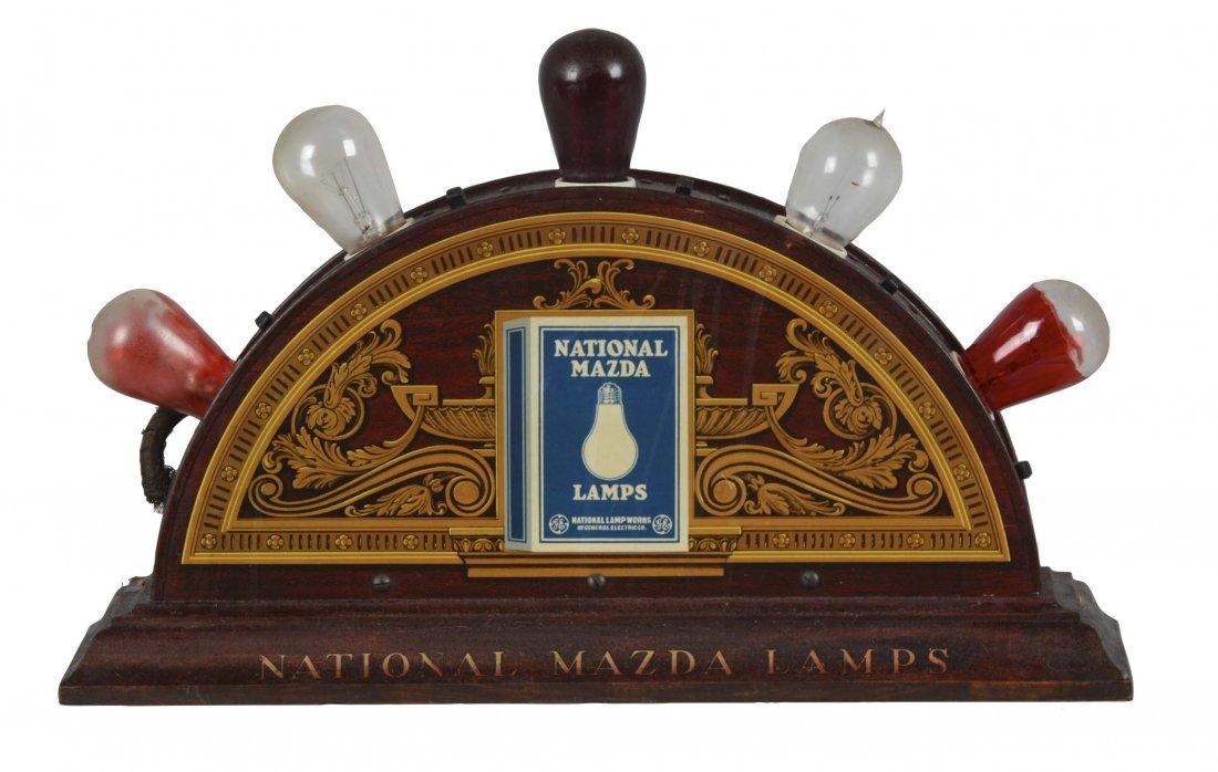 National Mazda Lamps Countertop Display