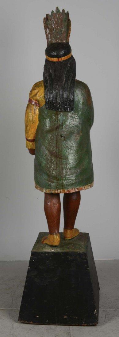 Female Cigar Store Indian Tobacco Sculpture - 3