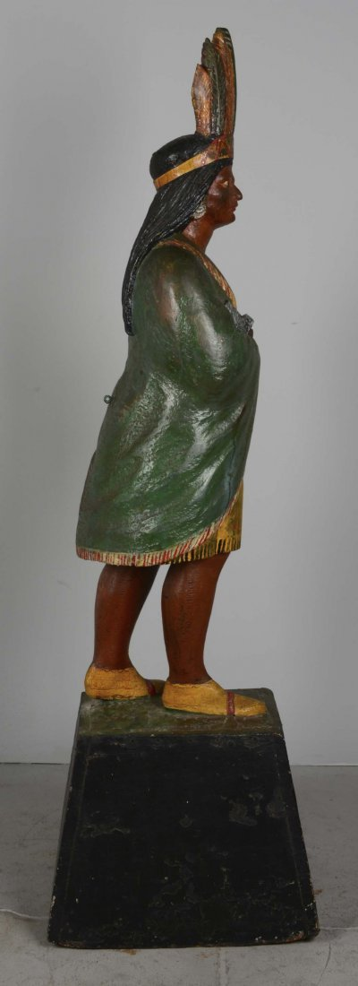 Female Cigar Store Indian Tobacco Sculpture - 4