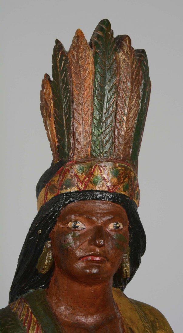 Female Cigar Store Indian Tobacco Sculpture - 5