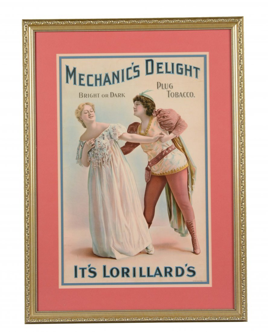 Framed Advertisement for Lorillard's Tobacco
