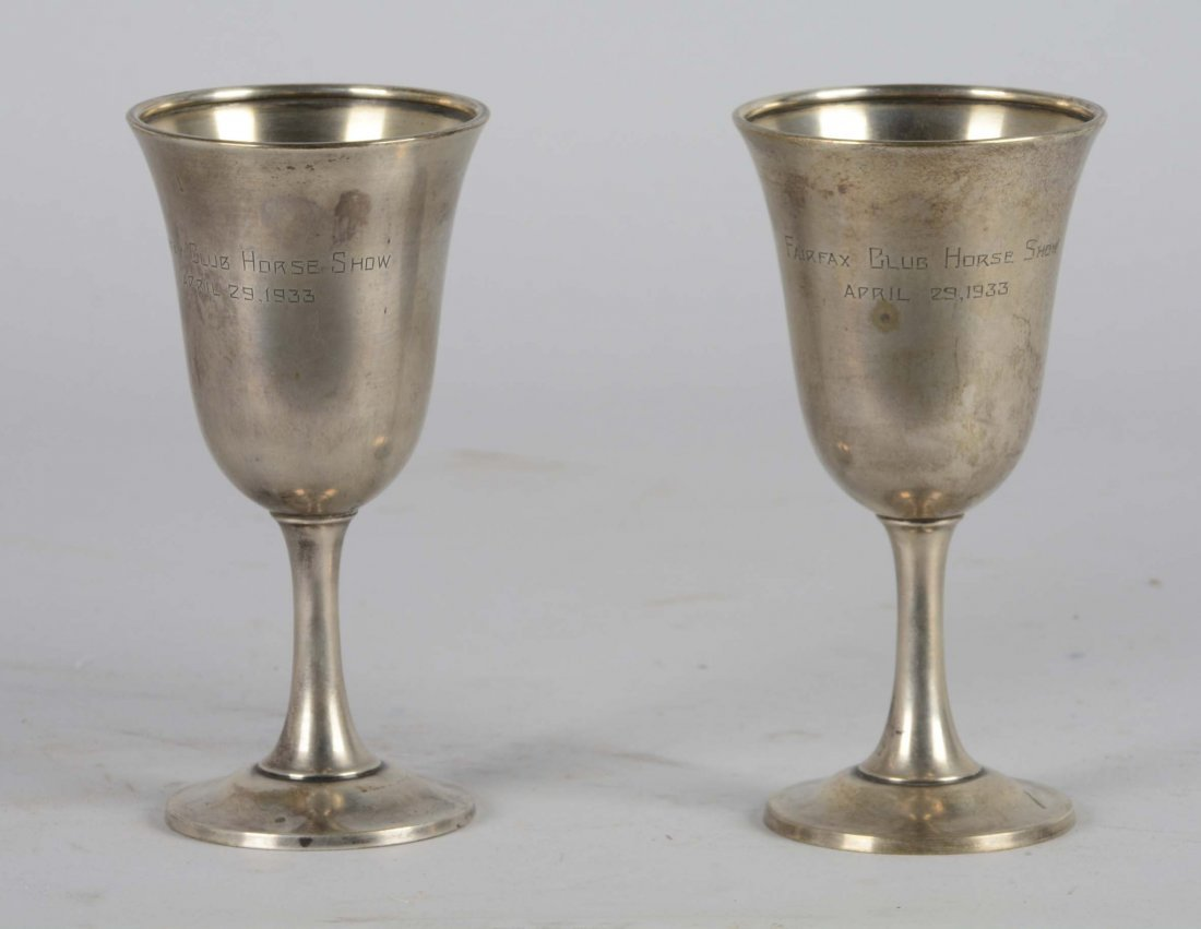 Lot Of 2: Pair of Sterling Silver Trophy Cups - 2