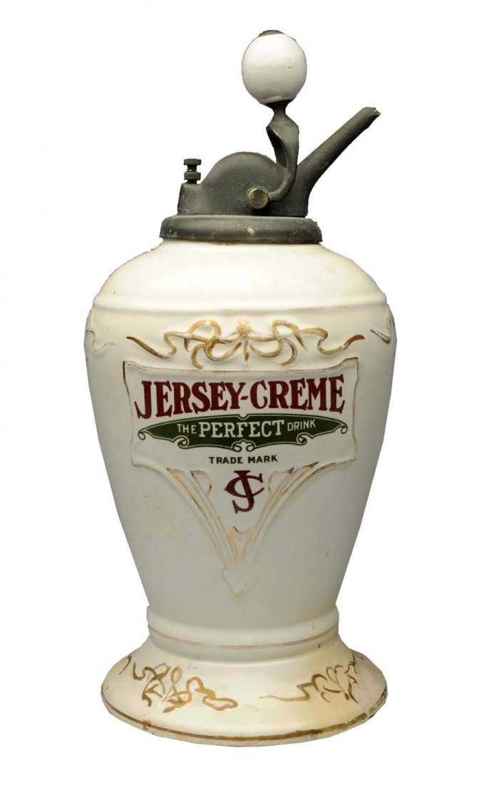 Jersey-Creme Embossed Syrup Dispenser