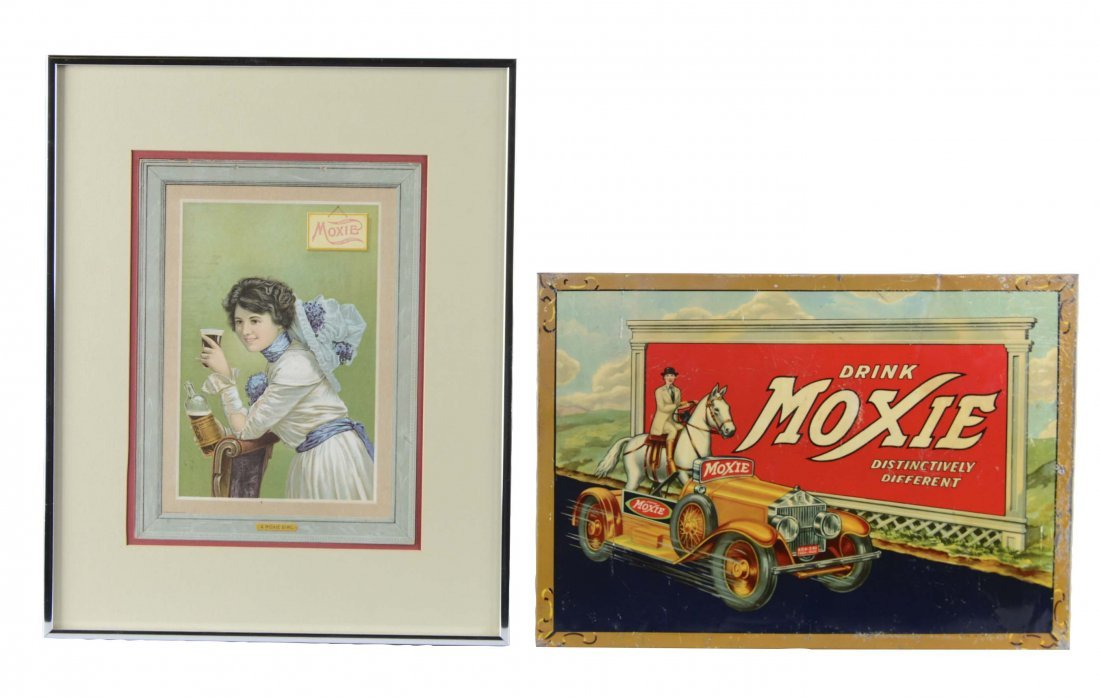 Lot Of 2: Moxie Advertisement Signs