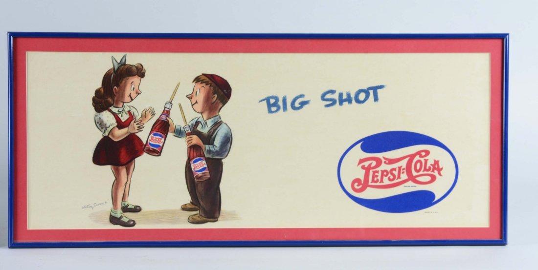 Lot Of 2: Pepsi-Cola Cardboard Advertisements - 3