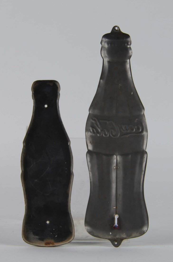 Lot Of 2: Coca-Cola Figural Bottle Advertising Pieces - 2