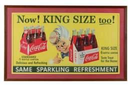 Coca-Cola Cardboard Advertisement Sign